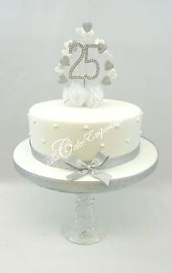 Silver Pearl Ruby Golden Sapphire Diamond Wedding Anniversary Cake
