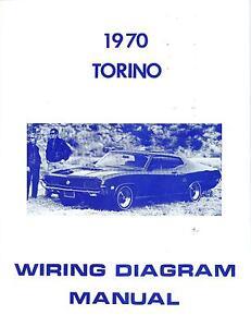 1970 70 FORD TORINO WIRING DIAGRAM MANUAL | eBay