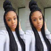 hair braided lace front wigs