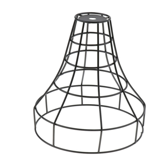 Iron Wire Cage Hanging Lamp Shade Pendant Light Lamps