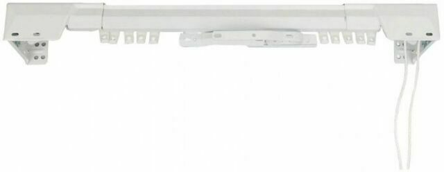 a4182 rod desyne white traverse heavy duty single curtain rod and hardware set