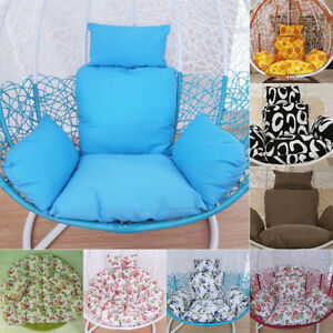 hanging chair decor bamboo dining chairs australia various colors single swing cushion pad pillow egg image is loading amp