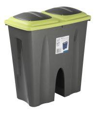 Kitchen Garden Double Waste Bin Plastic Dust Bin Recycle ...