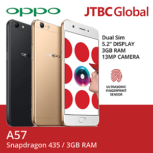 New Oppo A57 5.2 Inch Dual Sim 32GB Storage 13MP Factory Unlocked Android Phone