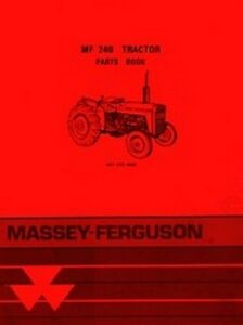 massey ferguson 240 parts diagram telephone wiring uk mf tractor book manual mf240 ebay image is loading