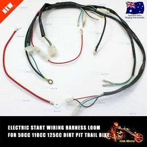 Electric Start Wiring Harness Loom 50cc 110cc 125cc PIT