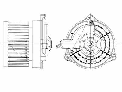 For 2006-2015 Mazda MX5 Miata Blower Motor Front TYC