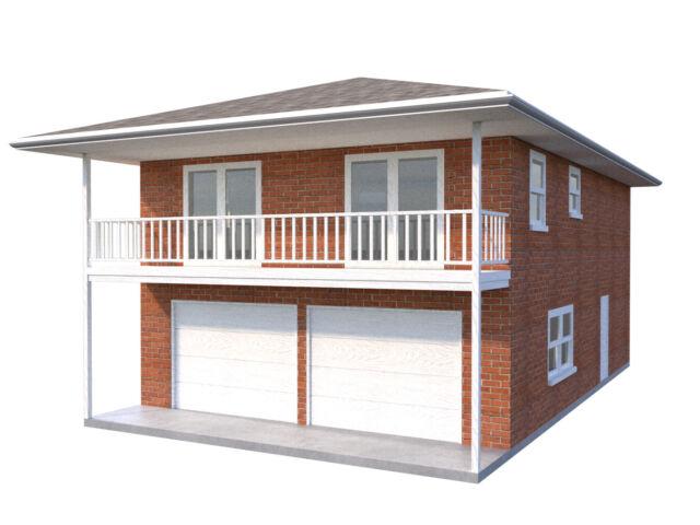 Diy Plans 2 Car Garage Apartment Home Building Plan