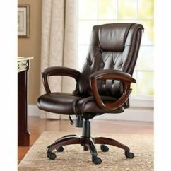 500 Lb Office Chair Dining Room Chairs South Africa Heavy Duty Leather Rolling Computer Brown High Back Executive Desk | Ebay