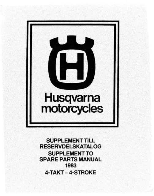 Husqvarna Parts Manual Book 1983 4 Stroke 500 TC, 510 TX
