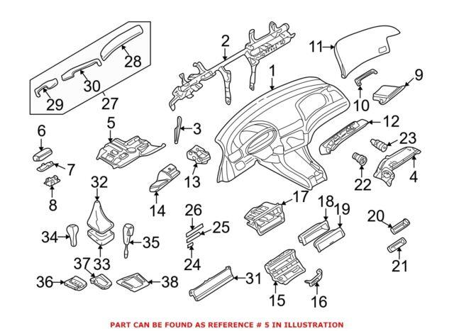 BMW E46 3-series Kick Panel Pedal Cover Trim Black Manual