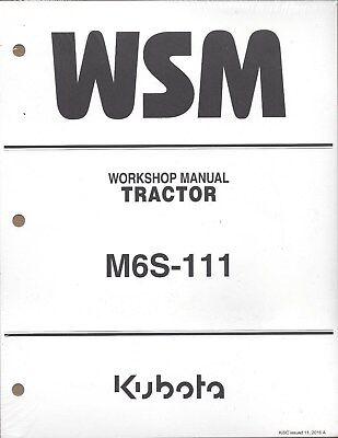 Kubota M6S-111 Tractor Workshop Service Manual 9Y111-13740