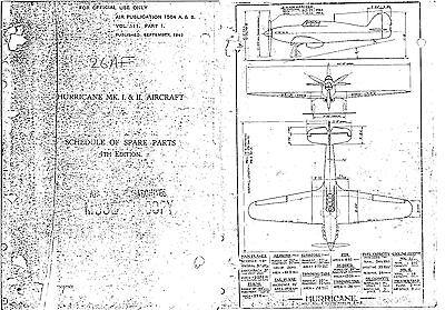 Hawker Hurricane 1942 illustrated Parts Service Manual