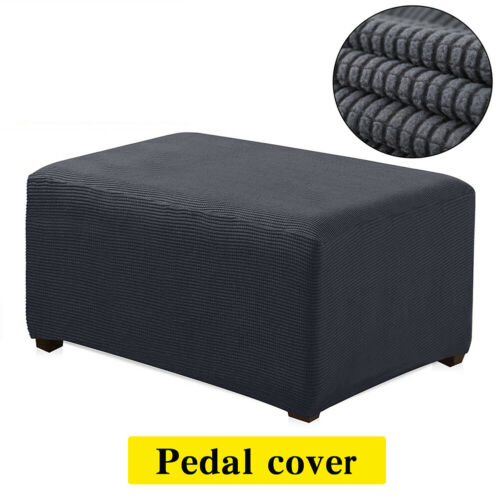 new polar fleece cover square ottoman footstool protector stretch slipcover home