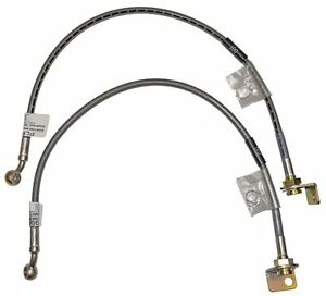 Rancho RockGEAR Front Extended Brake Line Kit 84-06 Jeep