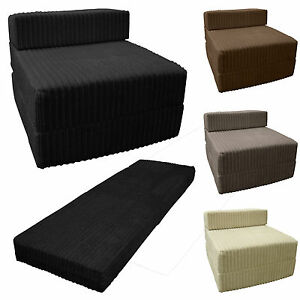 fold away single chair bed best rated recliner lift chairs jumbo cord out sofa z guest folding futon image is loading