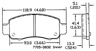 Disc Brake Pad Set-Manual Trans Front OMNIPARTS 13050646