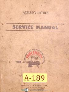 Axelson Lathe Manual