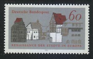 europa 1343 brd mnh renaissance 1084 1981 urban sc european germany mi
