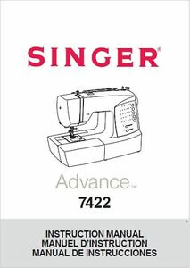 Singer 7422-ADVANCE Sewing Machine/Embroidery/Serger