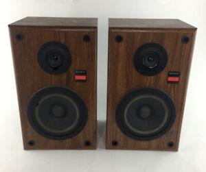 Sony SS-U3190 VTG Bookshelf Speakers Set 60W 8 ohm Audio Sound System Wood USA | eBay