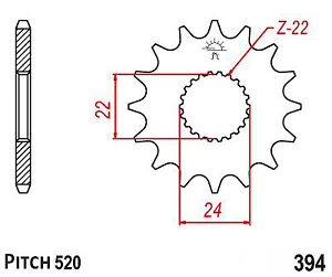 Hendler Front Sprocket 16 Teeth (394-16) CAN-AM DS 450