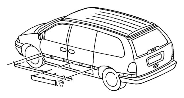 2000 Dodge Caravan MOLDING Sliding Door Right Mopar