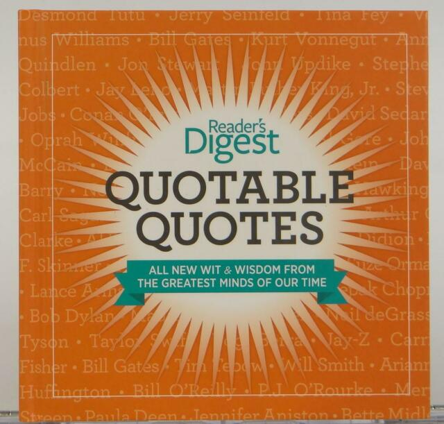 Reader's Digest Quotable Quotes 2013 Wit Wisdom Current Dictionary | eBay