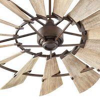 """Quorum 72"""" Oiled Bronze Indoor Windmill Ceiling Fan- ON ..."""