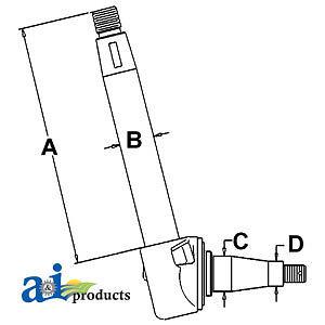 A-2748637M92 Massey Ferguson Parts SPINDLE LH 6500, 50C