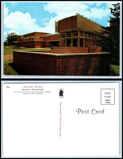 MASSACHUSETTS Postcard - Wellesley College. Jewett Arts Center K3   eBay