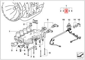 Genuine BMW E39 E46 E53 Z3 AT Transmission Solenoid Valve
