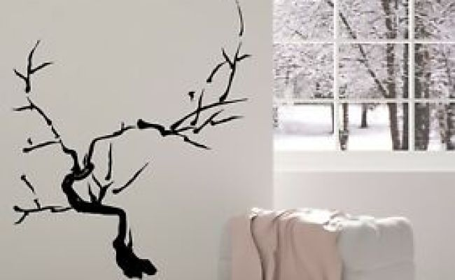 Vinyl Decal Wall Sticker Japanese Bonsai Tree Sakura