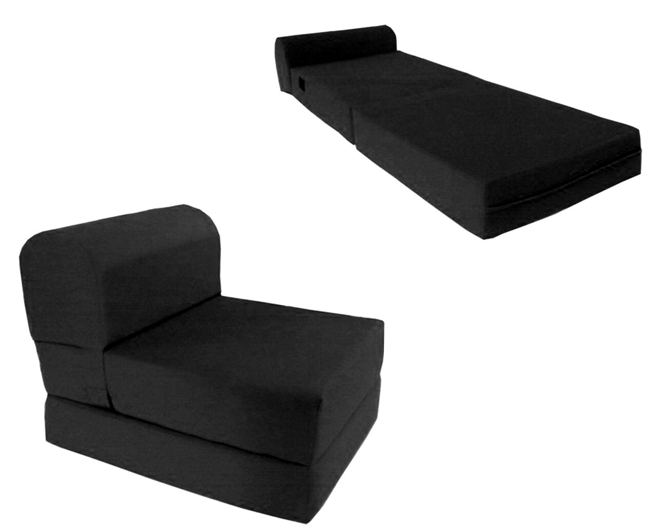 folding chair mattress foam tall back accent chairs black twin size wide sleeper bed 70 quotx36
