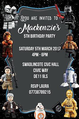 personalised lego star wars birthday