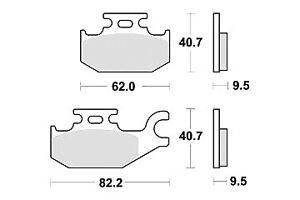 Plaquette frein CAN-AM OUTLANDER 400 500 650 800 / DS 650