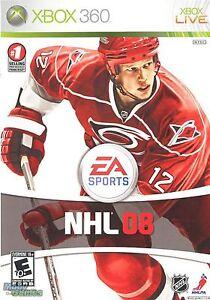 XBOX 360 NHL 08 Video Game Multiplayer Online Hockey