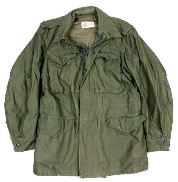 Vintage 60s M51 Field Jacket Vietnam 1961 OG-107 Sateen US Army Military S Long   eBay