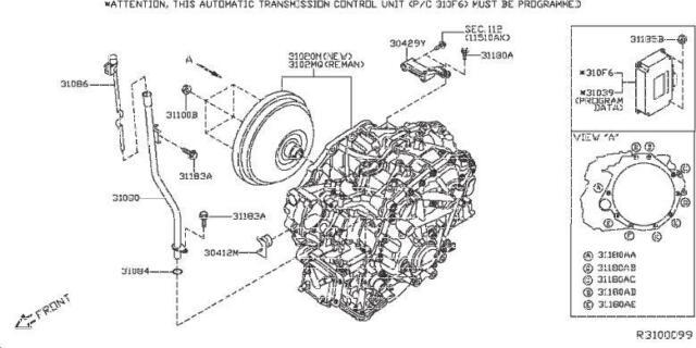 2017 Nissan Altima Fits 16-18 Transmission Module 310f6