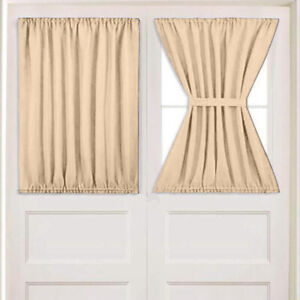 details about sidelight privacy window curtain panel for french door patio doors 54 wx40 l