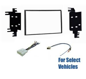 2 Din Car Stereo Radio Dash Wire Kit Combo for some Nissan