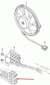 VW TRANSPORTER T5 Radiator Fan Control Module 7H0919506A 2