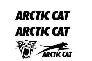 4 WHITE arctic cat decal sticker sno pro xf zr hcr limited