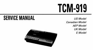 SONY TCM-919 SERVICE MANUAL BOOK INC SCHEMATIC IN ENGLISH
