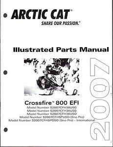 2007 ARCTIC CAT SNOWMOBILE CROSSFIRE 800 EFI PARTS MANUAL