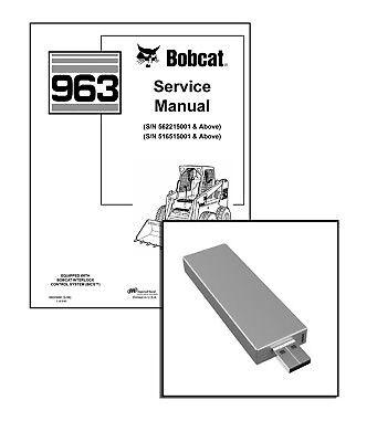 Bobcat 963 Skid Steer Loader Workshop Service Manual USB