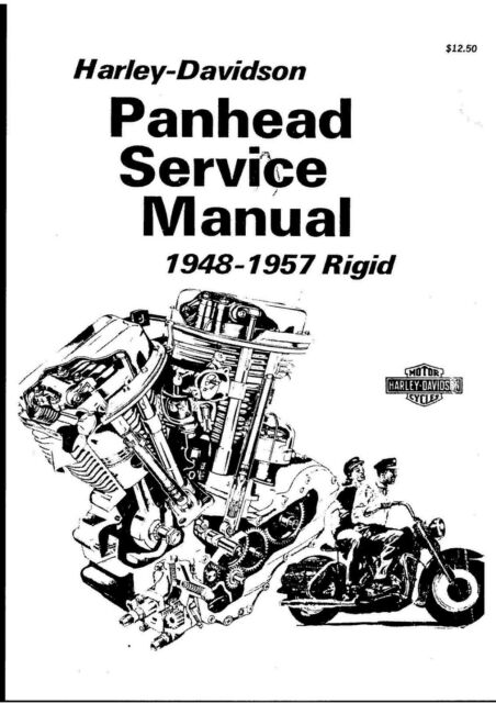 Manual PDF Motorcycle HARLEY DAVIDSON PAN HEAD SERVICE