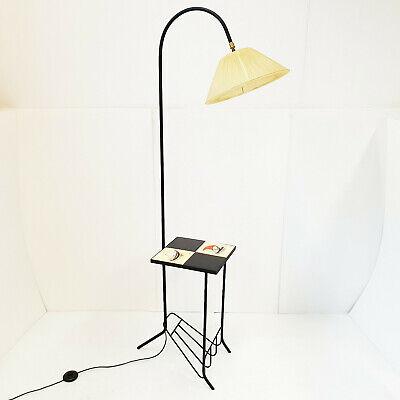 floor lamp magazine rack vintage 1950 rockabilly steel ceramic 50s 50 s ebay