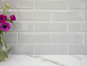 kitchen wall tiles gadgets stores gloss grey large xl bevelled metro brick bathroom image is loading