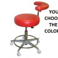 Stool Chair On Wheels Blow Up High New Galaxy 1065 Gw Round Seat Dental Assistant Hygienist Image Is Loading